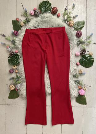 Актуальные винтажные красные брюки №406
