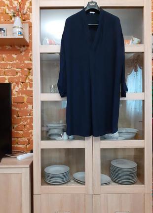 Очень стильное вискозное платье рубашка большого размера