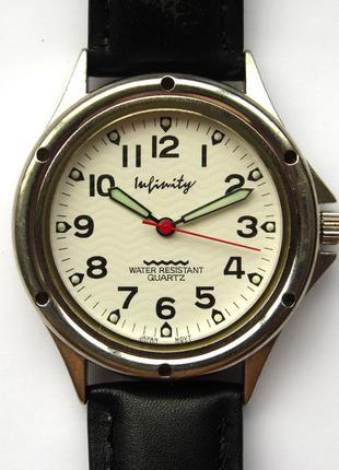 Infinity часы унисекс из сша кожа светонакопитель механизм jap...