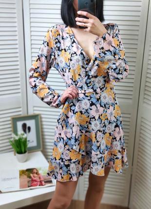 Платье на запах иммитация missguided, uk 14/l