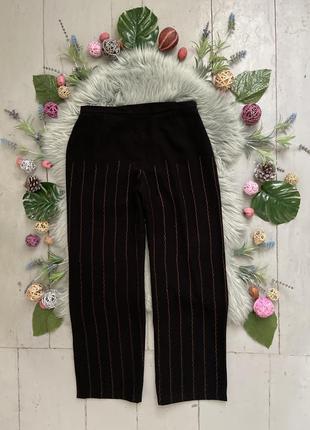 Прямые брюки с высокой посадкой №408
