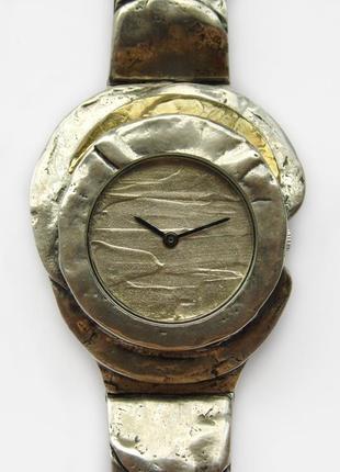 Швейцарские часы ручной работы из серебра 835 и золота 585 пробы