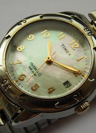Timex перламутровые часы из сша браслет twist-o-flex