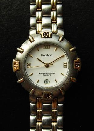 Armitron 25/5629 часы из сша wr100m с датой мех. japan miyota