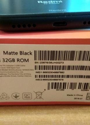 Xiaomi redmi 7a 2/32Gb. Global Version. BLUE и BLACK.