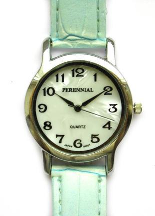 Perennial часы из сша с перламутровым циферблатом мех. japan