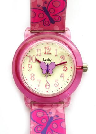 Lucky часы из сша с бабочкой - секундной стрелкой мех. japan m...
