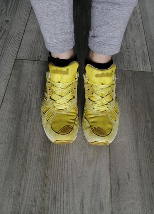 Кроссовки adidas flux желтые. кроссовки оригинал 37. 5, 24 см.