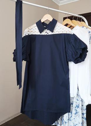 Бавовняна сукня прямого крою/ 100% коттон / платье с рукавами ...