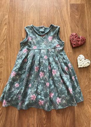 Стильное платье сарафан в цветы mothercare 12-18 мес