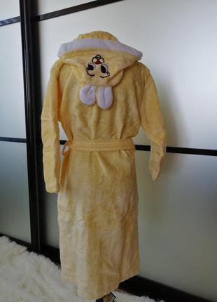 Детский махровый халат 9-10лет  пр-во турция,  велюр/махра в н...