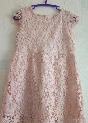 Нежное кружевное нарядное платье zara