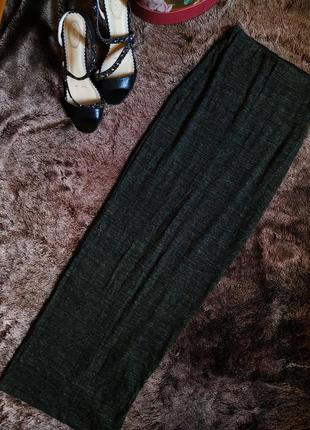 Трикотажная юбка цвета хаки в пол  от zara / юбка макси 2020 ✨