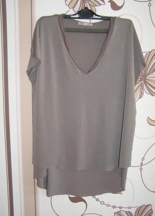 Zara футболка с разрезами по боках, р.м