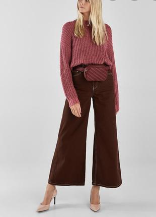 Denim широкие джинсы - кюлоты новой коллекции