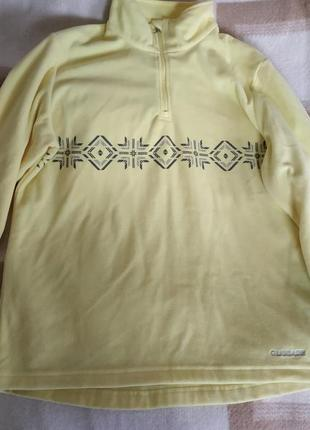 Флисовая кофта  желтого цвета glissade
