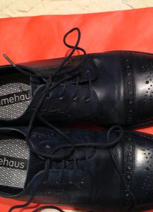 Туфли кожаные мужские, стелька 29,5 см