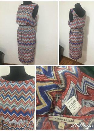 Фирменное, легкое, базовое платье миди с карманами