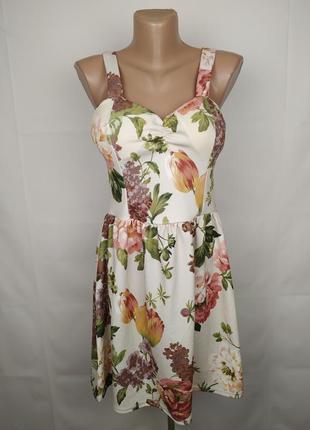 Платье модное новое в цветы new look uk 14/42/l