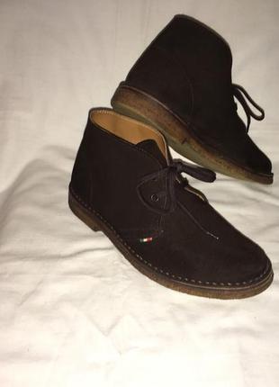 Ботинки *pratesi* кожа италия р.39 ( 25.50 см)