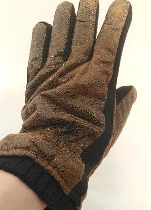 2233/80 теплые коричневые перчатки