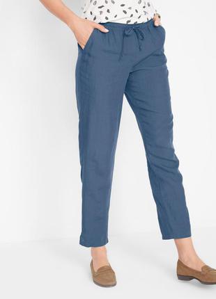Легкие брюки из льна и лиоцелла
