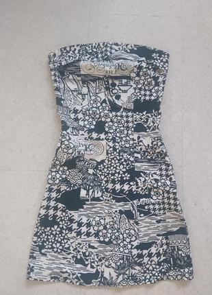Мини платье из хлопковой стрейчевой ткани