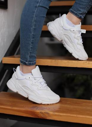 Adidas white ozw,женские кроссовки адидас