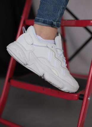 Женские белые кроссовки адидас, adidas white o,zw