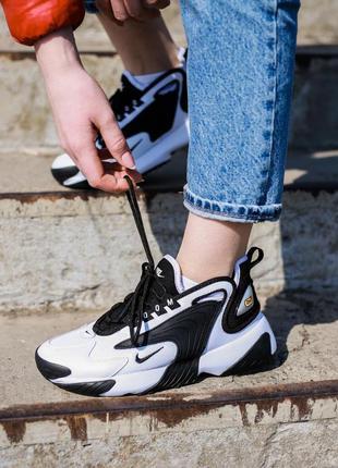 Nike zoom 2k white / black ♦ женские кроссовки ♦ весна лето осень