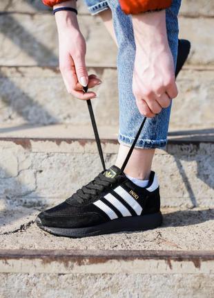 Adidas iniki runner triple black ♦ женские кроссовки ♦ весна л...