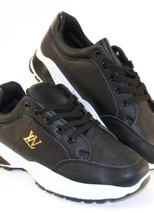 Скидка! модные женские черные кроссовки