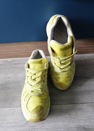 Кроссовки женские adidas flux желтые (оригинал)