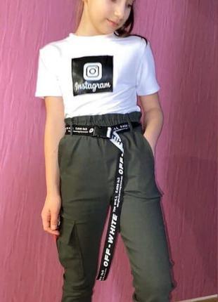 Классный костюм для девочки. футболка и джогеры