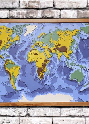 Деревянная карта мира.