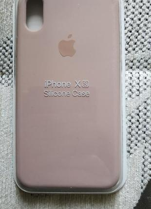 Чехол iphone 7+/8+/x/xs pink sand silicone soft touch
