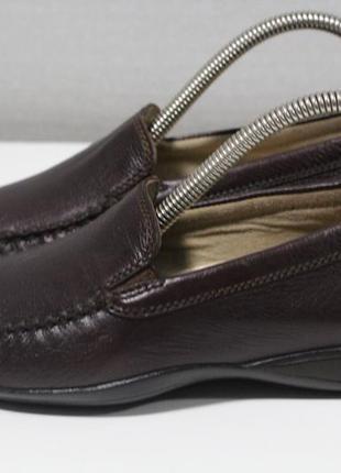 Удобные кожаные туфли, мокасины sioux 37-38