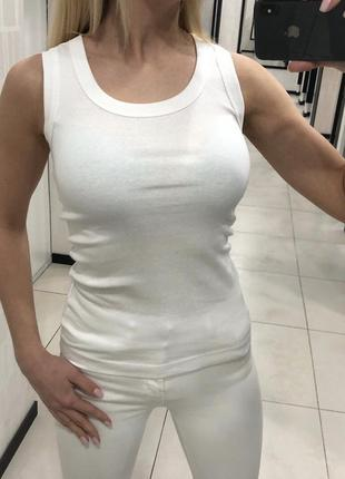Белая хлопковая майка. размеры уточняйте.