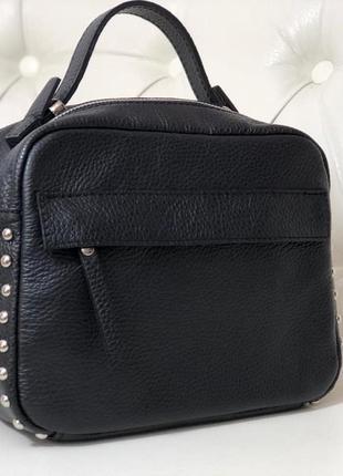 Лёгенькая, вместительная и красивая сумочка из натуральной кож...