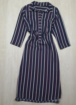 Платье-рубашка миди в полоску by very p.12/40