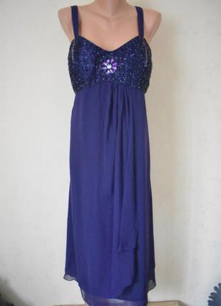 Новое красивое нарядное платье с вышивкой бисером большого раз...