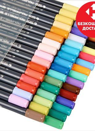 Набор двухсторонних акварельных маркеров STA 36 цветов