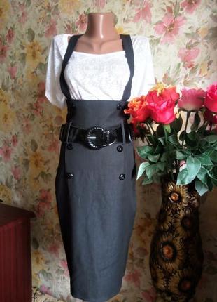 Сарафан, юбка с высокой талией, есть дефект