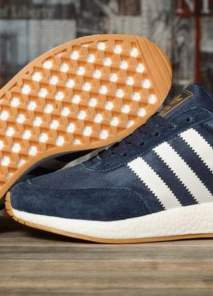 Мужские кроссовки adidas iniki темно синие