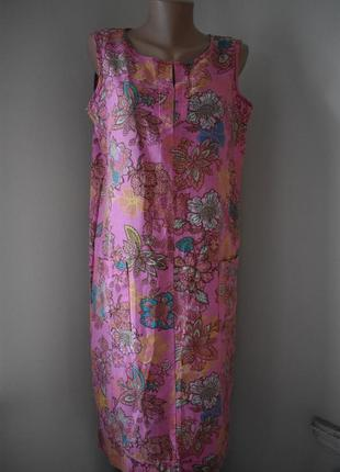 Натуральное платье с принтом next