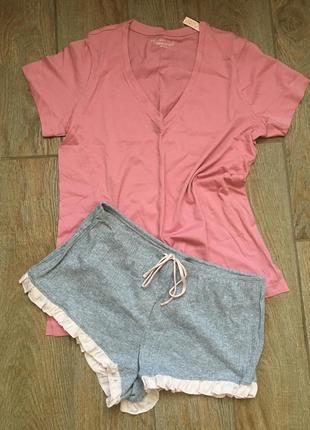 Одежда для дома и сна - пижама шорты футболка виктория сикрет