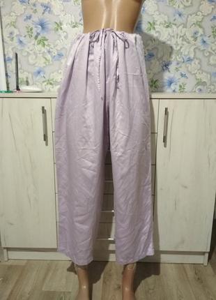 Сиреневые пижамные штаны большой размер