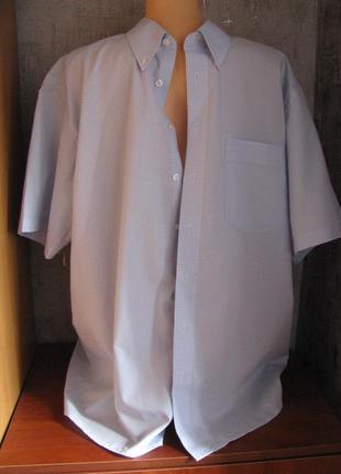 Мужская рубашка 52-54 р, в клетку, ворот 43 royal class германия