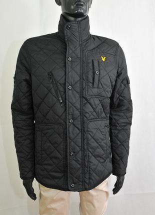 Lyle&scott мужская стеганная куртка бомбер, весенняя стеганка,...