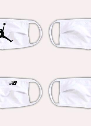 4 текстильных маски, хлопковая маска, защитная маска Jordan